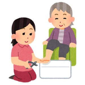 free-illustration-tsumekiri-kaigo-irasutoya